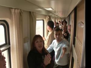 青藏铁路-列车上的乘客