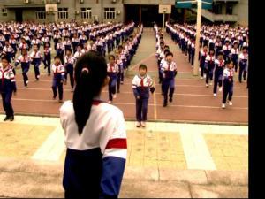 学生升国旗