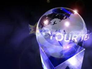 地球仪环绕效果LOGO展示
