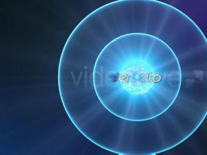 蓝色粒子运动路径效果LOGO展示