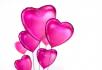 粉红色的心球