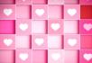 粉红色方块心