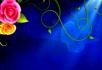 深蓝色背景花纹生