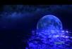 月亮河蔚蓝星空流星