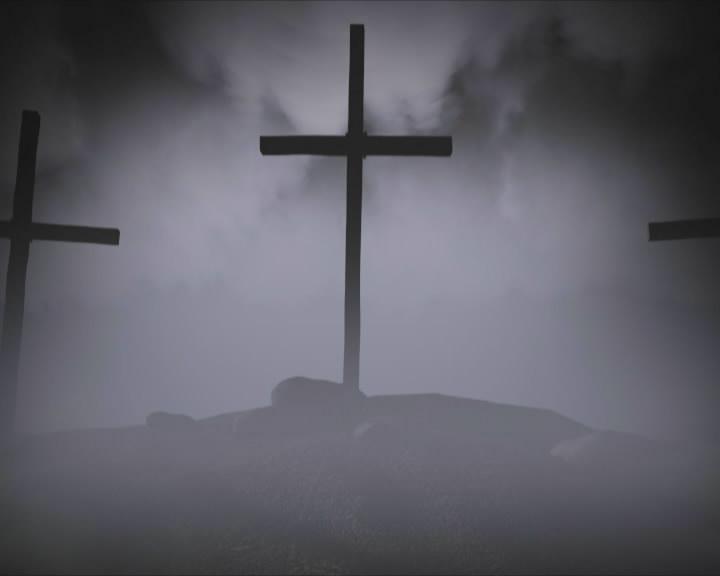 坟墓上的十字架