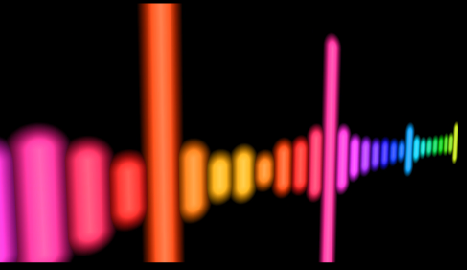 超炫七彩频谱线条