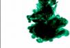 墨绿色的水墨效果