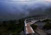 云雾中的天梯 乡下人家 世外桃源