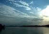 日出日落河面倒影