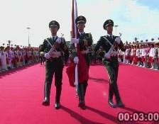 升旗仪仗队入场