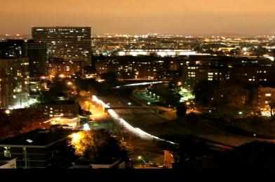 城市灯光车流