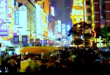 快速街景上海夜