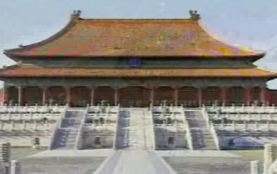 航拍的故宫天坛