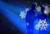 雪景神话色彩主题舞台背景