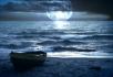 月亮大海小船