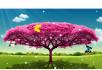 生长大树蝴蝶草原