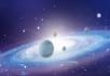 星球银河系和平之光地球行星背景