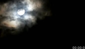 月黑风高月亮暴风雨云