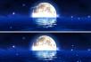 月光月亮海面