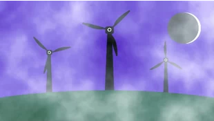 卡通风力发电机