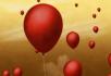红色气球上升