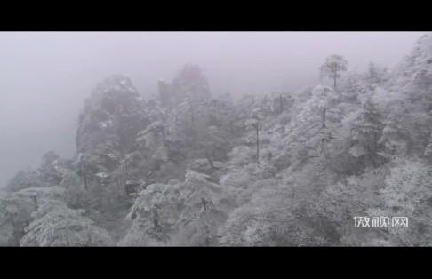 唯美动画冬天雪花飞舞视频素材