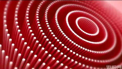 红色圆形质感立体圆柱