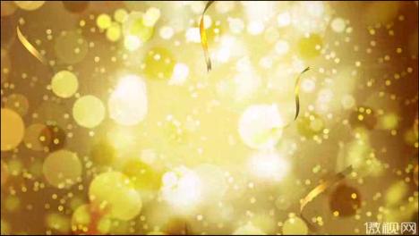 金色唯美粒子飘带