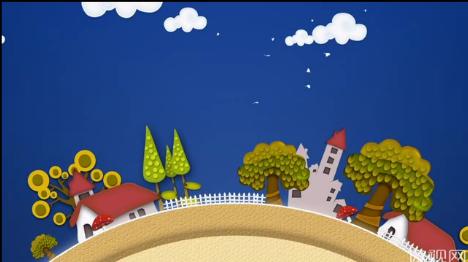儿童乐园转动背景