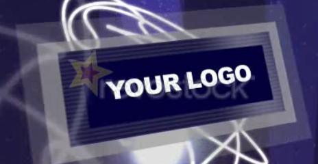 蓝色动画logo