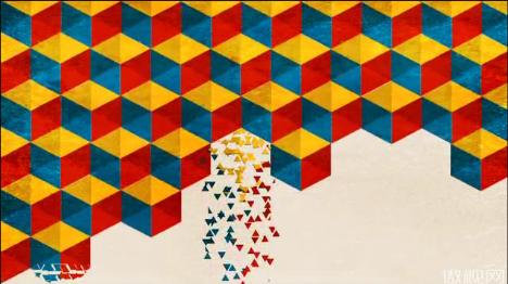 立方体散落