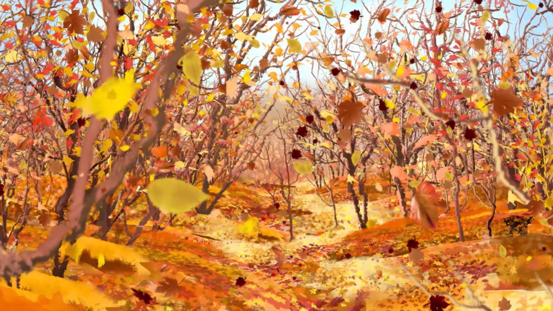 秋天落叶视频素材-秋天落叶视频模板下载-傲视网