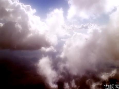 云层上的阳光