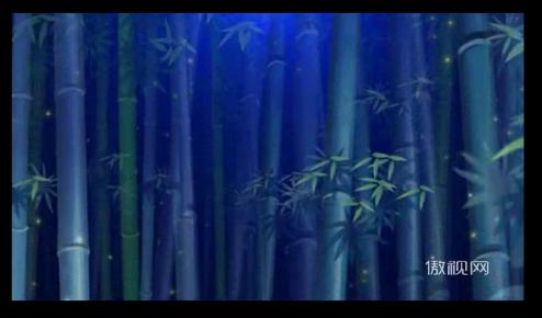 月光下的凤尾竹