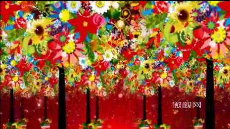 百花树花朵彩色