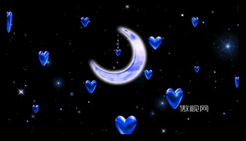 唯美爱情背景心形爱心月亮婚礼礼仪情人节