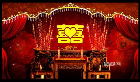 中式婚礼喜字双喜囍结婚庆典新婚礼仪