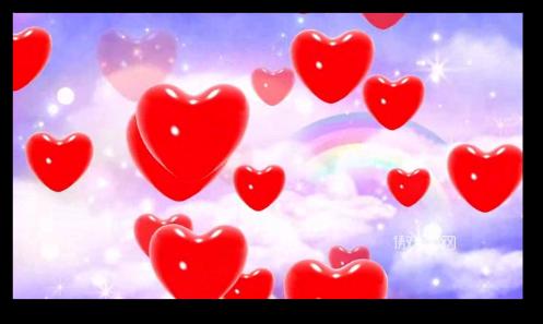 唯美心形爱心红心桃心情人节新婚礼仪彩虹