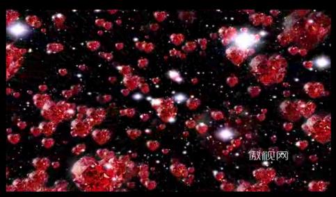 唯美钻石心形爱心星空浪漫情人节婚礼礼仪