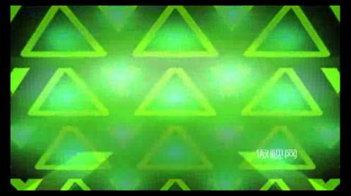 绿色三角光效背景