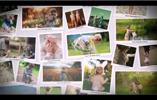 回忆时光照片展示AE相册模板含音乐