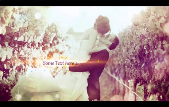 难忘的金色时光浪漫婚礼AE相册 含音乐