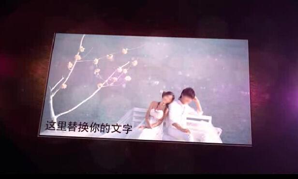 唯美梦幻婚纱照展示AE模板