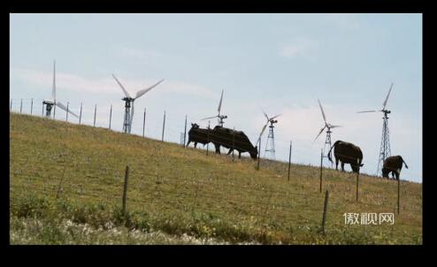 風力發電高清實拍素材