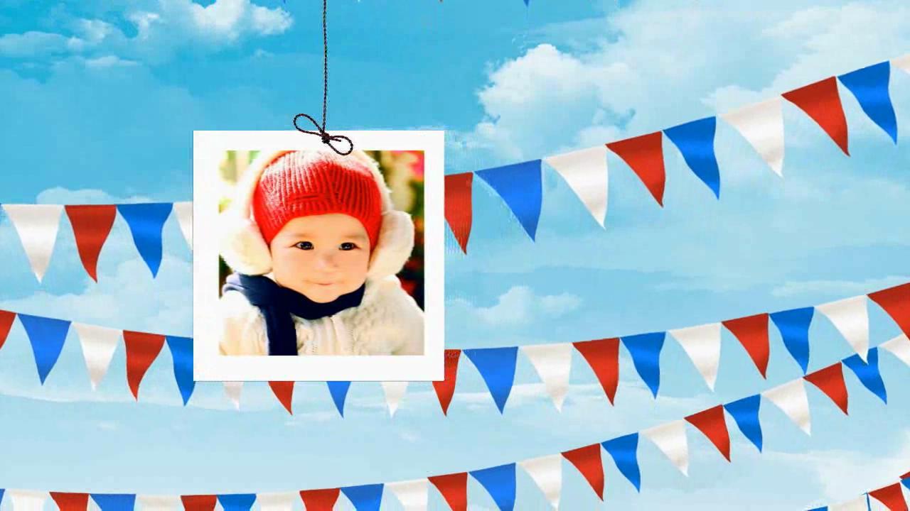 轻松可爱儿童生日会声会影模板